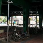 新橋駅の駐輪場(港区新橋第1暫定自転車駐車場)