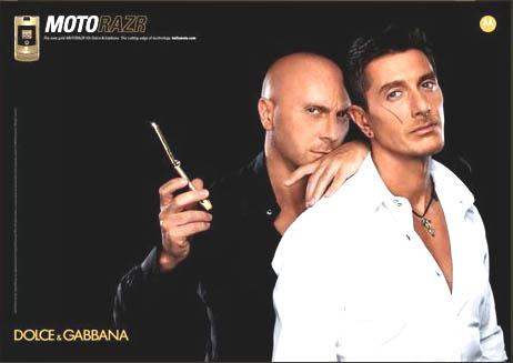 Dolce & Gabbanaとコラボレートしたモデルの広告。