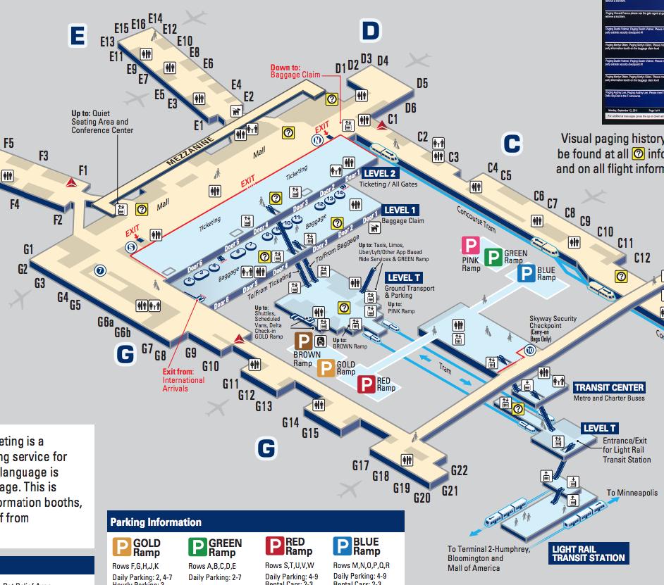 図中央がトラムのりば。右下がライトレールの駅。