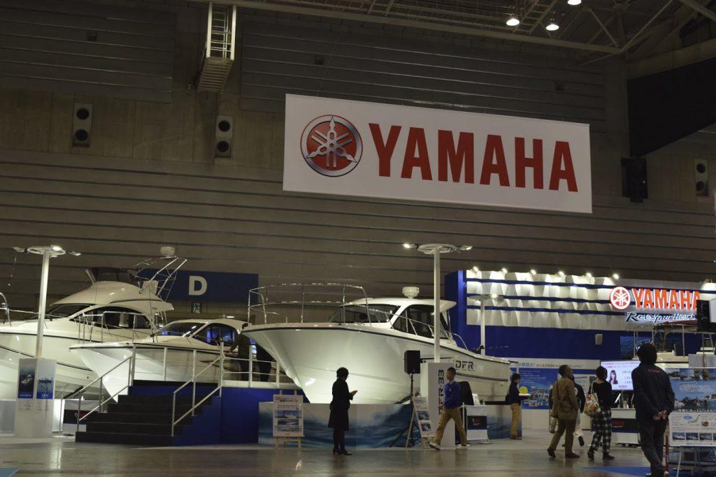 ボートショー2017 パシフィコ横浜の屋内展示(ヤマハブース)