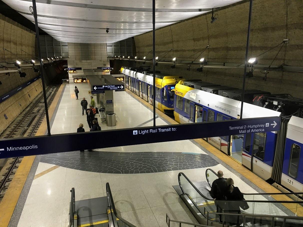 ミネアポリス・セントポール空港第1ターミナル駅