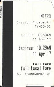 ミネアポリスメトロの切符