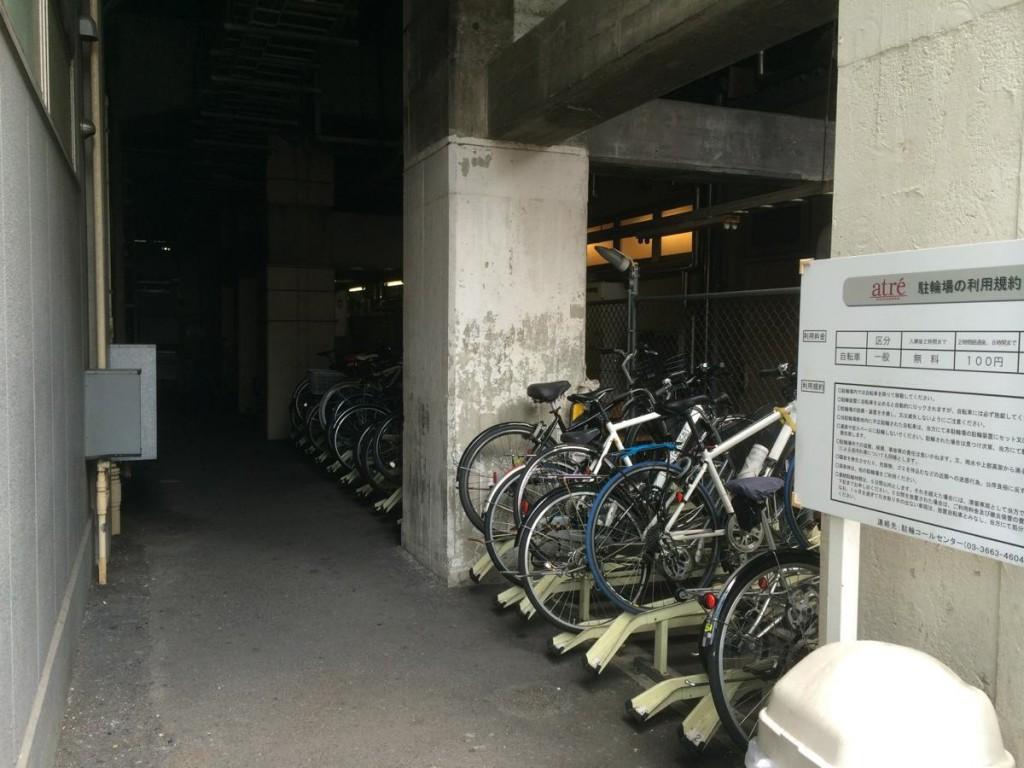 秋葉原駅(アトレ秋葉原)駐輪場の収容台数は40台。