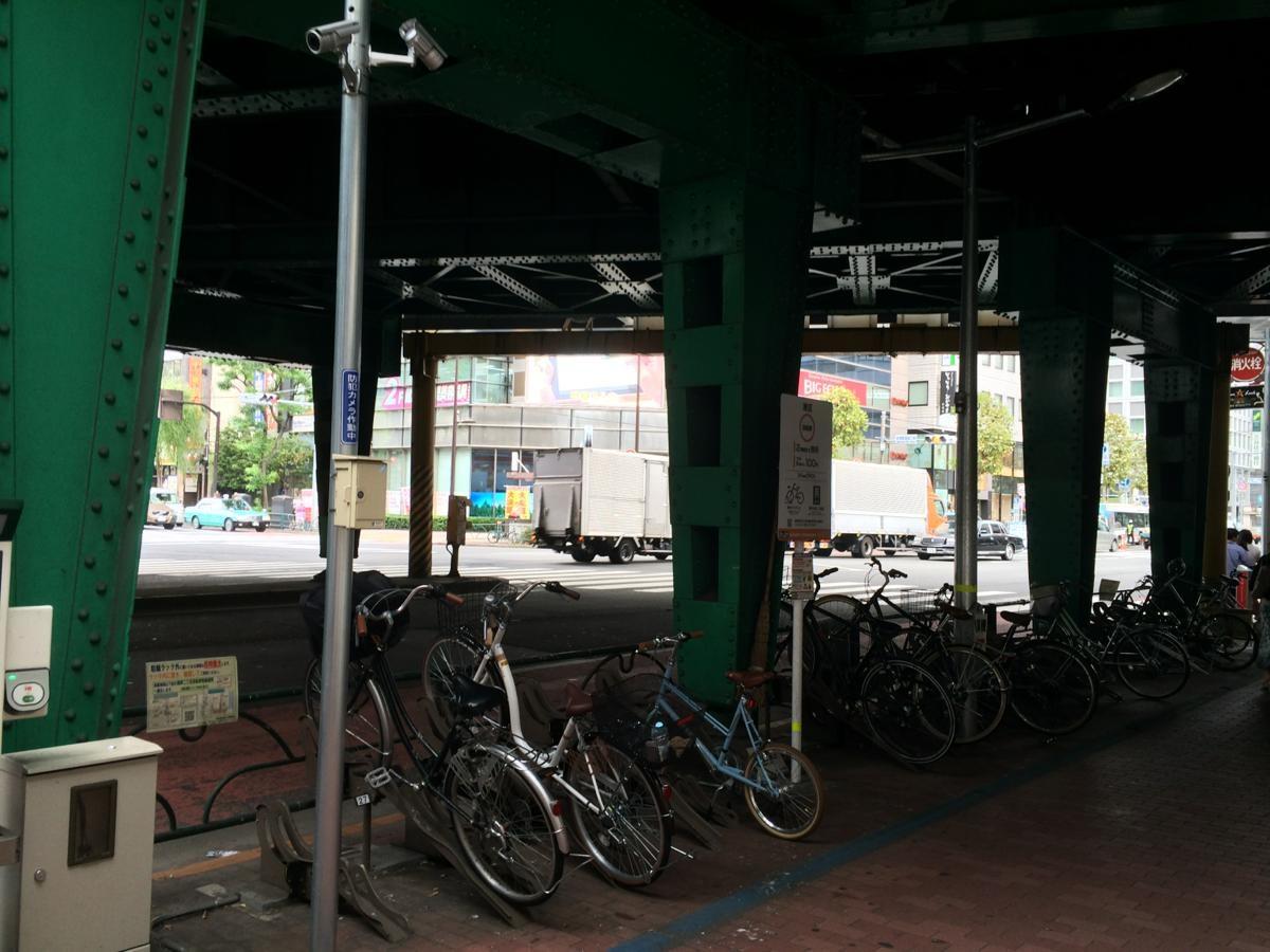港区新橋第1暫定自転車駐車場