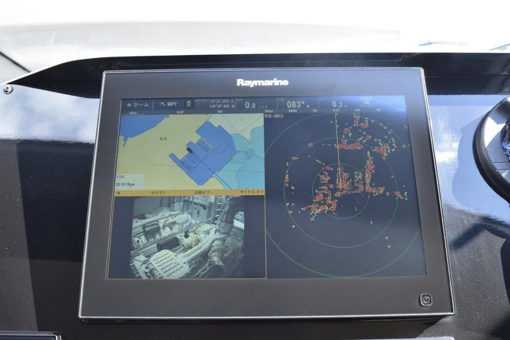 AZIMUT Flybridge Collection 80feet Raymarine Rader.