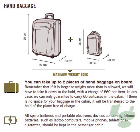 機内持ち込み手荷物は10kgまでOK