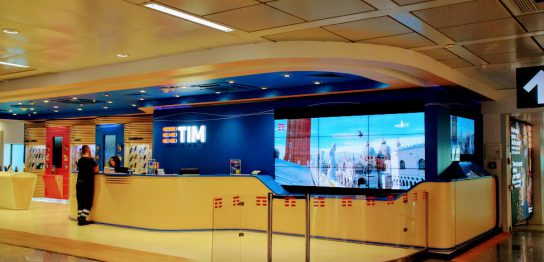 ローマ・フィウミチーノ空港のTIMショップ