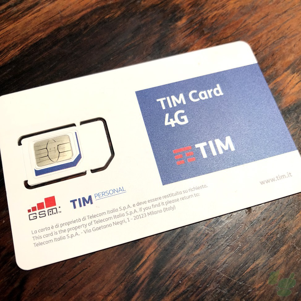 TIMの4G SIMカード(表側)