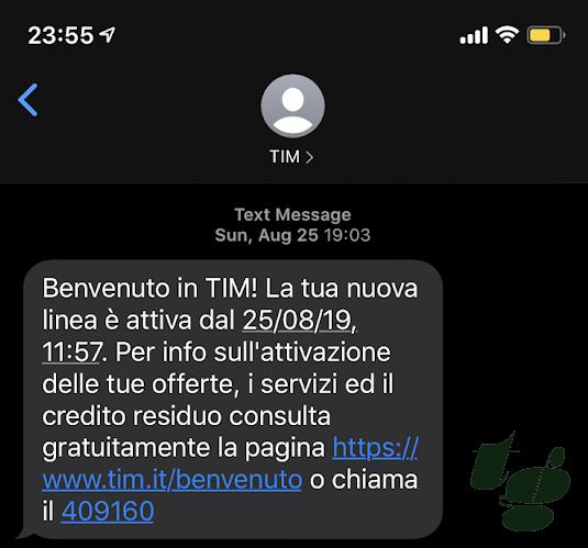 TIMから届くSMS